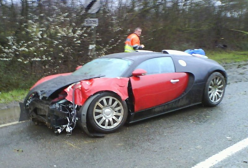 Accidente de un Bugatti Veyron