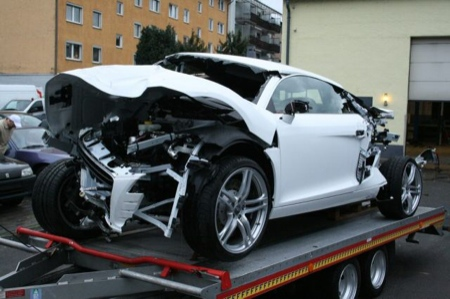 Audi R8 accidente
