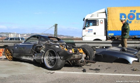 Pagani C9 accidentado