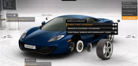 Ya disponible: configurador online del McLaren MP4 12C