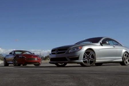 Aston Martin DB9 vs Mercedes CL65 AMG