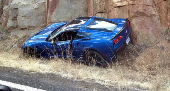 Corvette Stingray, primer accidente en vía pública