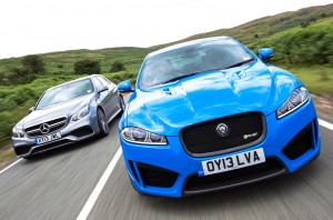 Mercedes E63 AMG vs Jaguar XFR-S