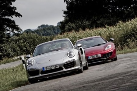 Porsche 911 Turbo S vs McLaren MP4-12C