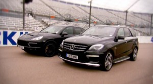 Vídeo: Fifth Gear efrenta al Porsche Cayenne Turbo con el Mercedes ML63 AMG