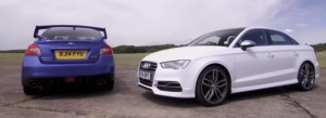 Vídeo: Subaru WRX STi vs Audi S3 Sedan