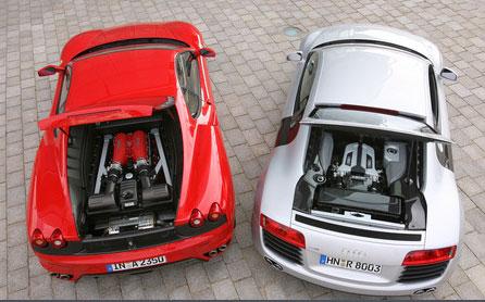 Audi R8 vs Ferrari F430