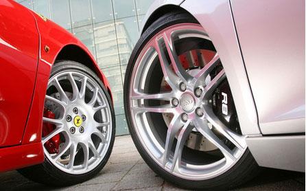 Comparativa desde el infierno: Ferrari F430 vs Audi R8 ¡Muchas fotos!