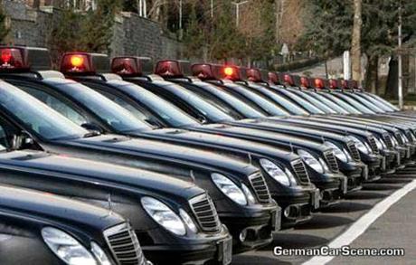 Mercedes Benz Clase E policía iraní