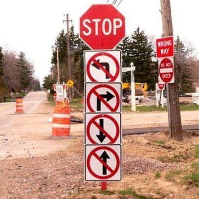 Señalizaciones de tráfico indiscutibles