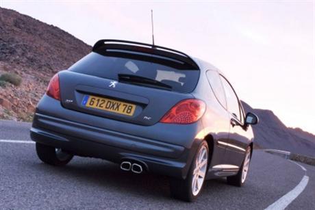 Peugeot 207 RC, imágenes y datos oficiales