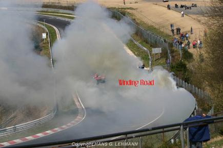 Audi R8 V10 quemado