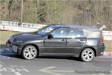 BMW X6, fotos espía desde Nürburgring