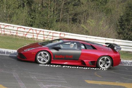 Lamborghini Murciélago en Nürburgring, toca especular