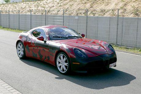 Alfa 8C Competizione, visionado en Nürburgring