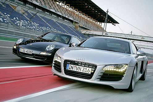 Audi R8 y Porsche 911 4S