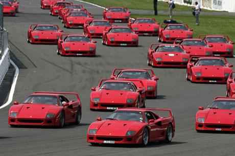La concentración de Ferraris más numerosa