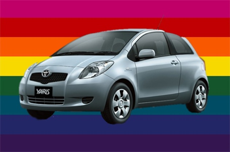 Toyota Yaris Gay Wheels