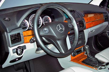 Interior del Mercedes GLK