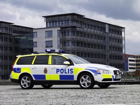 Volvo V70 policía sueca