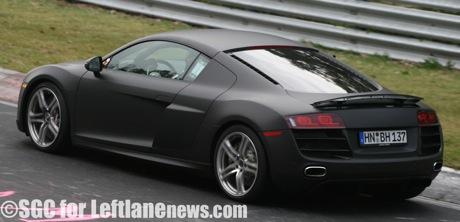 Audi R8 V10 totalmente al descubierto en el Ring