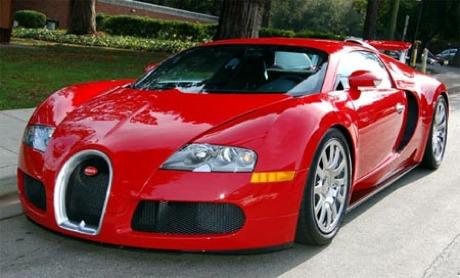 Bugatti Veyron rojo