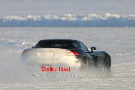 En la nieve: más fotos espía del Mercedes SLC