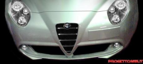 El frontal del Alfa Junior, al descubierto