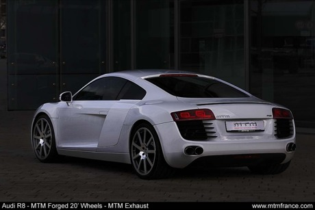 Fotos en directo del Audi R8 MTM en blanco impoluto