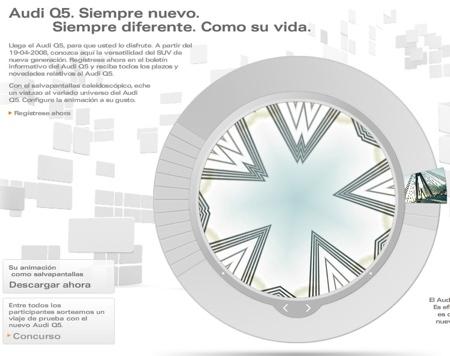 Audi Q5 Minisite