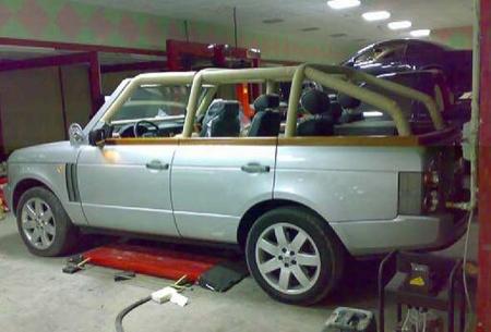 Range Rover descapotable