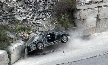 Aston Martin DBS siniestro