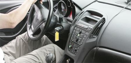 Opel Astra interior espía