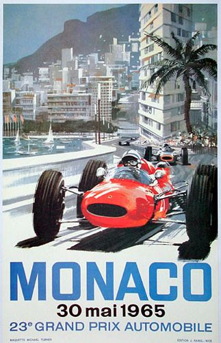 Cartel Gran Premio de Mónaco