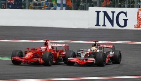 Hamilton y Raikkonen