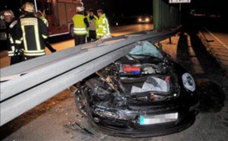 Accidente Porsche 911