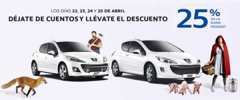 España: Descuento del 25% en la gama de Peugeot peugeot