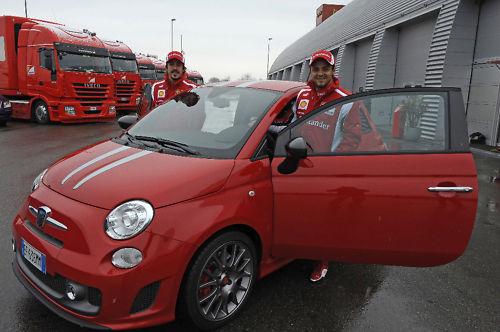 F.Alonso y F.Massa_Abarth Tributo Ferrari 2