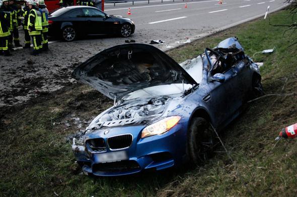 Accidente BMW M5 F10