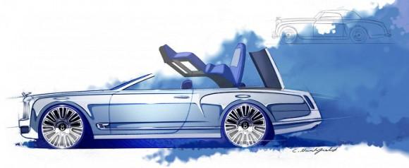 Bentley Mulsanne Convertible, primeros teaser de una posible versión descapotable