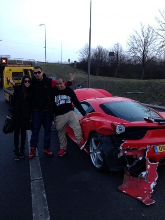 DJ Afrojack destroza su Ferrari 458 Italia horas después de recogerlo
