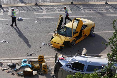 Destrozan un Lamborghini Murciélago en China