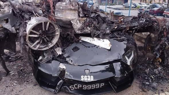 Destrozan dos Lamborghini Gallardo y un Aventador en Malasia 1