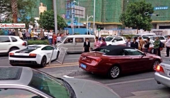 Destrozan un Lamborghini Gallardo LP550-2 Valentino Balboni en China 2