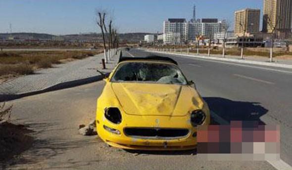 Aparece un Maserati 4200GT Spyder destrozado y abandonado en China 3