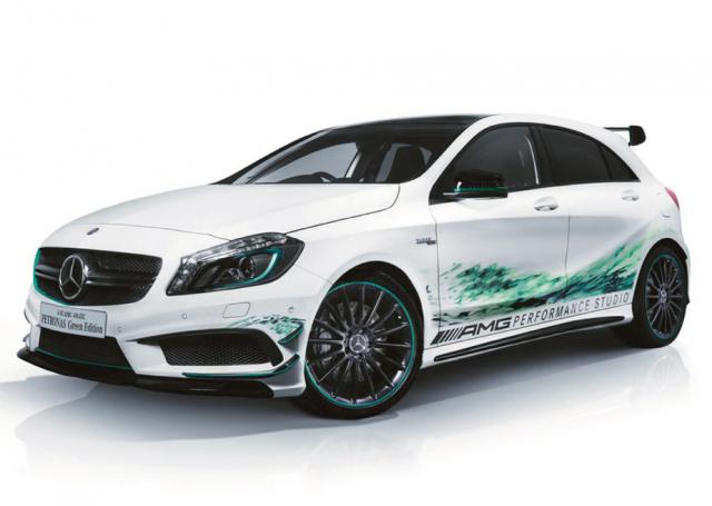 Mercedes A45 AMG Petronas Green Editon, directo al Salón de Tokio 1