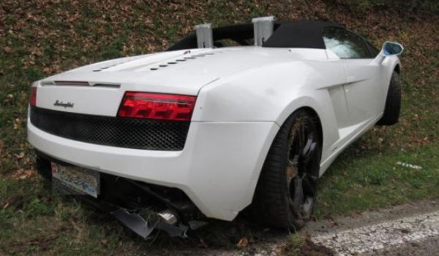 Destrozan un Lamborghini Gallardo LP560-4 Spyder en Suiza 1