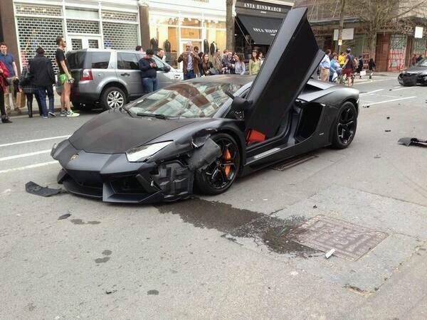 Este vídeo de un accidente de Lamborghini Aventador te dejará sin aliento 1