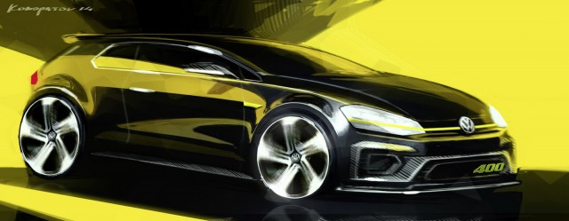 Volkswagen Golf R 400 Concept: 400 CV de camino a Pekín 2