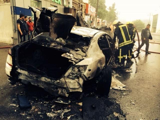 Arde un Maserati Quattroporte GTS en Azerbaijan 2